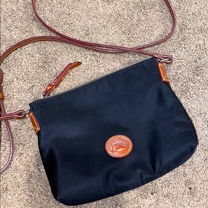 Dooney & Bourke nylon black purse with brown.